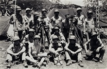 Artillery survey crew of 10th Marines with survey gear.Commanded by Robert A. Earle, back row 4th from left