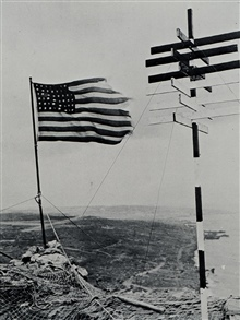 Hydrographic survey signal on Mt. Suribachi, Iwo Jima.This signal was erected within a short time of the famous American flag raising.