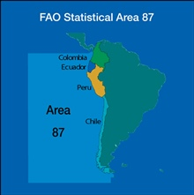 The Southeast portion of the Pacific Ocean corresponds to the United NationsFood and Agriculture Organization (FAO) Area 87.