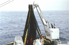 Deploying a purse seine.