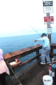 Got a big one this time!  Fishing off the Newport Beach pier.