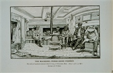 The cabin of mackerel schooner John D. Long of Gloucester, MassachusettsDrawing by H. W. Elliott and Capt. J. W. Collins