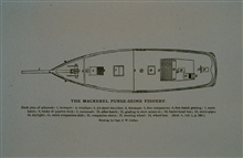 Deck plan of mackerel schoonerDrawing by Capt. J. W. Collins