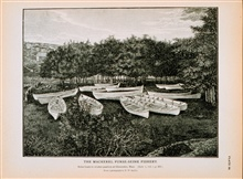 Seine boats in winter quarters at Gloucester, MassachusettsFrom photograph by T.W. Smillie