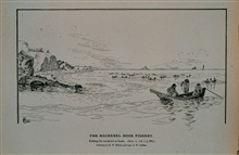 Surf-fishing in boats for mackerelDrawing by H. W. Elliott and Capt. J. W. Collins