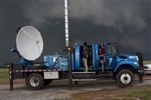 A Doppler on Wheels radar tracks an intense supercell thunderstorm