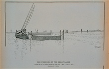 Lifting the pot at Kelley's pound-net, Lake ErieDrawing by H. W. Elliott