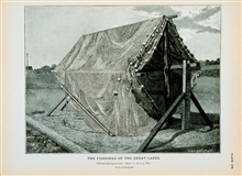 Gill-net drying on reelFrom a photograph