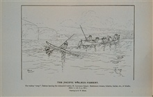The walrus coup.  Eskimo lancing the exhausted walrusSaint Lawrence Island, Bering Sea.  Mahlemut dresses, bidarka, baidar, &c.;Drawing by H. W. Elliott