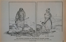 Ordinary attire of men on the killing groundAnd of women and young children in the villageDrawing by H. W. Elliott