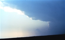 Isolated severe thunderstorm.Main updraft core is in the background, storm anvil is in upper foreground.