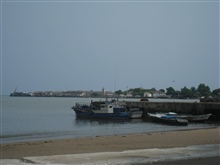 Dock in Sao Tome