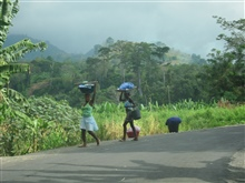 Sao Tomean Women Carrying Laundry
