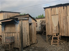 Huts in Sao Tomean fishing village