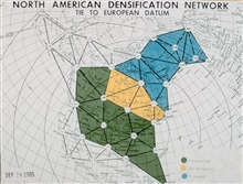 Map showing phase 1 densification network used to improve North Americancontrol network.