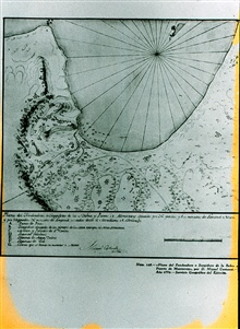 Monterey Bay Case Study - Photo #1.First recorded soundings in Monterey Bay.Surveyed by Don Miguel de Costanso - only 17 soundings