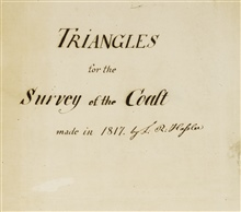 Title page  of computation book of ' Triangles for the Survey of theCoast' made in 1817 by F.R. Hassler.