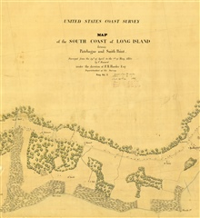 Topographic sheet between Patchogue and Smith Point, Long Island, by CharlesRenard. Title block of Registry No. T-2.