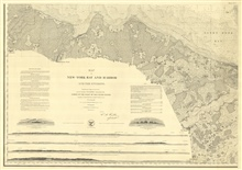 SW sheet of six-sheet chart of New York Bay and Harbor.  Title sheet.  Thischart was the culmination of Ferdinand Hassler's superintendence.  Unfortunately it was published posthumously.  It established the style for Coast Survey andCoast and Geodeti
