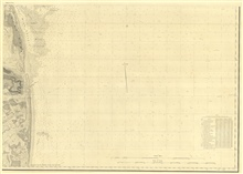SE sheet of six sheets of New York Bay and Harbor.  This sheet shows approachesto New York Harbor from the south.  It also includes an innovative tidal current chart from observations made by Lt. Comd. Charles H. Davis in 1844. Note alsobottom charac