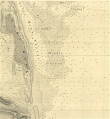 Section of SE sheet of six sheets of New York Bay and Harbor showing FalseHook Channel, the primary means of approaching New York Harbor prior to theCoast Survey work of 1835.