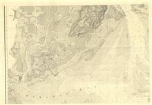 Sheet No. 3, the west center sheet of six of New York Bay and Harbor includingStaten Island, the Narrows (Verrazano Narrows today), and the western part ofchannels leading over Sandy Hook Bar.