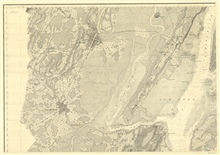 Sheet No. 5, the NW sheet of six sheets of New York Bay and Harbor. This sheetincludes the Hudson River north of The Narrows, lower Manhattan, Jersey City,Governors Island, Ellis Island, and Bedloe's Island.