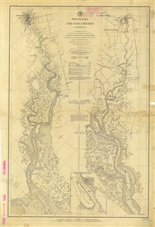Petaluma and Napa Creeks 1861.  Re-issued 1882 with Aids to Navigationcorrected to 1885.