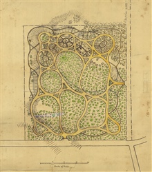 A park designed by Henry Whiting perhaps as an example oftopographical drawing.