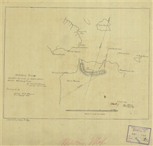 Copy of sketch map by Captain J. L. Folsom of the U.S. Topographical Engineersof the vicinity of the Golden Gate  and present day San Francisco.  John RossKey, a nephew of Francis Scott Key and a draftsman in the Coast Survey, copiedthe map for the a