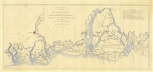 Map of Portions of Seacoast of South Carolina and Georgia in Possessionof the United States, December 12th 1861. Map shows range circlesaround Forts Walker and Beauregard in Port Royal Sound and Fort Pulaski and abattery off the Savannah River Entran