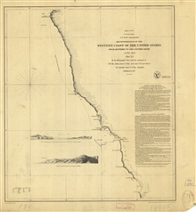 Reconnaissance of the Western Coast from Monterey to the Columbia River. SheetNo. 1 of 3. This chart only extends north toCape Mendocino.