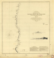 Reconnaissance of the Western Coast from Monterey to the Columbia River. SheetNo. 2 of 3. This chart only extends from Cape Mendocinoto north of the Umquah (Umpqua) River Entrance.