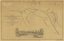 Published view of Approaches to Fort Hindman, Arkansas Post on the ArkansasRiver. Captured by the U.S. Mississippi Squadron under command of Act'g RearAdmiral David D. Porter, U.S.N.  January 11th, 1863.  Surveyed by C. Fendall,Sub-Assistant U.S. Coa