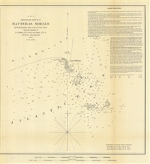 Annual Report 1850. D No. 2.  Preliminary Sketch of Hatteras Shoals.