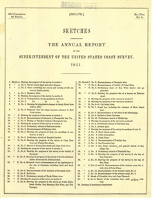 Annual Report 1851. Sketches Accompanying the Annual Report of theSuperintendent of the United States Coast Survey 151.