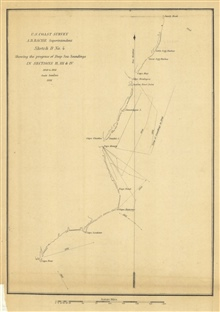 Annual Report 1851. Sketch D No. 4 Showing the progress of Deep SeaSoundings In Sections II, III, & IV 1849 to 1851