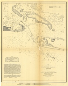 Annual Report 1851. D No. 5 Preliminary Sketch of Beaufort Harbor NorthCarolina