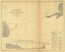 No. 24 Section across the Yucatan Channel From Mugeres Island to Cape SanAntonio, Cuba. Soundings taken in February and March 1872.  Annual Report1872.