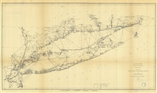 No. 4 Sketch B. No. 2 Showing the Triangulation & Geographical Positions inSection No. II from New York City to Point Judith 1873.  Annual Report 1873.