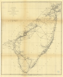 No. 5 Sketch B. No. 3 Showing the Triangulation & Geographical Positions inSection No. II from New York City to Cape Henlopen 1873.  Annual Report 1873.
