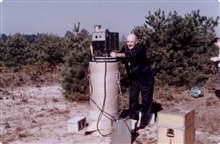 Early geodimeter operations, possibly at Cape Canaveral.