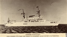 Artists conception USC&GS; OCEANOGRAPHER, largest vessel designed foroceanographic studies in the United States at that time.