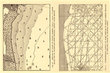 Coast Survey chart showing density of soundings from original survey used to to construct nautical chart.  Comparing survey of Ponce Harbor, PuertoRico to published chart of same. In: Nautical Charts by George Rockwell Putnam, 1908. 162 pp.