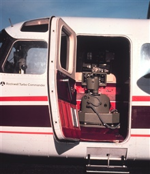 Wild RC-10 photogrammetric camera installed on Rockwell Turbo Commander.