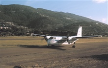 NOAA de Havilland Buffalo N13689 taxiing in Virgin Islands.