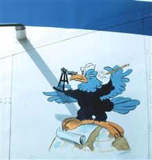 Disney Coast and Geodetic Survey Eagle as nose art on the NOAA de HavillandBuffalo N13689.