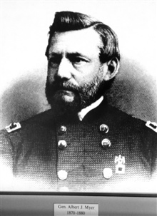 General Albert J. Myer, first head of a national weather service, 1870-1880.