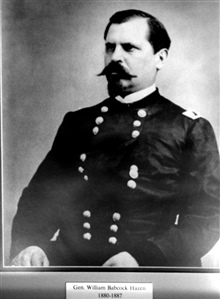General William Babcock Hazen, head of the weather service 1880-1887.