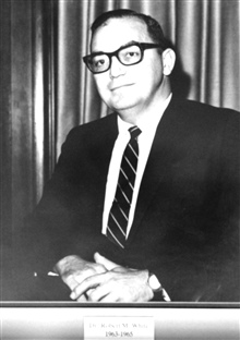 Dr. Robert M. White, head of the Weather Bureau 1963-1965.  Dr. White was thefirst and only Administrator of ESSA from 1965-1970, andthen the first Administrator of NOAA.